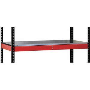 HALLOWELL FKRL4824E-RR-HT Tablette supplémentaire rouge assemblée largeur 48 pouces   AF2UMX 6XXY8
