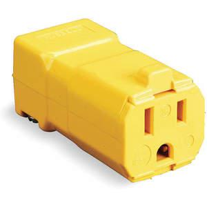 Hubbell Wiring-Kellems HBL5969VY | Connector 5-15r 15a 125v ... on hubbell lighting, hubbell twist lock, hubbell raceway, hubbell 30 amp connector, hubbell 320 connector, hubbell fire rated poke through, twist lock devices, hubbell electric motors, hubbell floor box covers, flir devices, infinity devices,