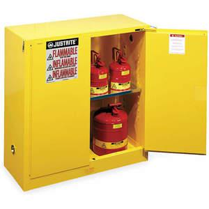 Justrite 896005 | Flammable Safety Cabinet 60 Gallon White ...