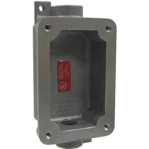 KILLARK FXB-5 Device Box 3/4 inch Hub 15.5cu-in 2 Hubs   AD9PTW 4TZU6