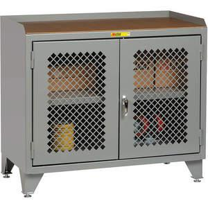 LITTLE GIANT MHP3-LL-2D-2448 Bench Cabinet Hardboard Top 2 Clearview Doors | AG4KAY 34AU98