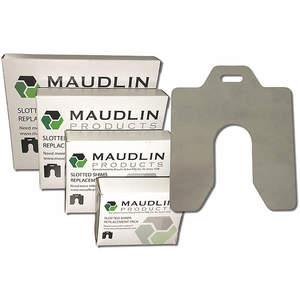 MAUDLIN PRODUCTS MSB125-5 Slotted Shim, Replacement Pack, B .125 x 3 x 3 Inch, PK 5 | AC2YCX 2NZN7