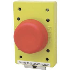 REES 01981-002 Pulsante a fungo, a stantuffo con chiusura a molla, rosso | AH6YGV 36LR76