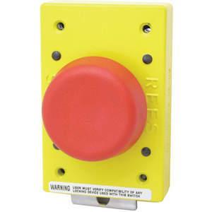 REES 02650-002 Arresto di emergenza, pistone a fungo con chiusura, rosso | AH6YGZ 36LR80