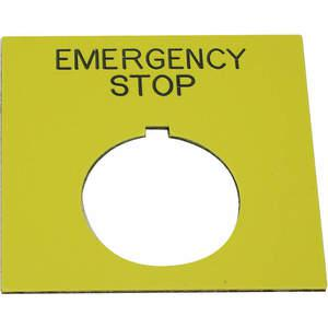 REES 09020-004 Targhetta legenda, standard, arresto di emergenza | AH6YHH 36LR94