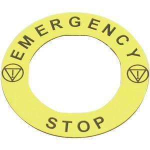 REES 09022-004 Targhetta legenda, standard, arresto di emergenza | AH6YHJ 36LR95