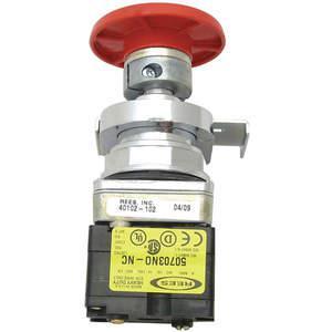 REES 40102-102 Operatore a pulsante a fungo, arresto di emergenza, rosso | AH6YHB 36LR88