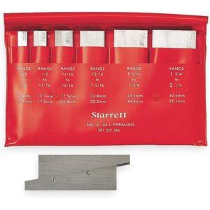 STARRETT S154LZ Precision Adjustable Parallel Set 3/8-2 1/4 In | AC4HCX 2ZUY1 / 50586