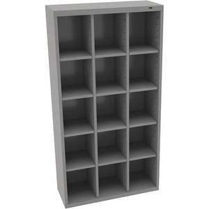 TENNSCO CC-66MG Cubbie Cabinet Medium Gray 13-1/2 Inch Depth x 66 Inch Height | AH9BAF 39FN98