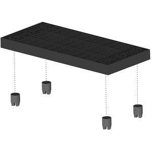 ADD-A-LEVEL A6624 Work Platform Panel, 66 x 24, Black | AG8ENU