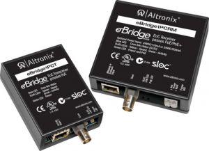 ALTRONIX eBridge1PCRMT Kit adattatore EoC a porta singola, 25 Mbps, passa PoE / PoE | CE6EVT