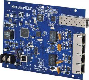 ALTRONIX NetWay4EB SFP singolo 1G in fibra, 4 porte 10/100 PoE / PoE | CE6FVC