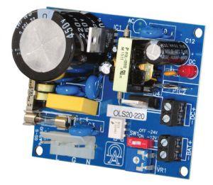 ALTRONIX OLS20220 Alimentatore / caricatore, uscita singola, 12VDC 1A o 24VDC .5A, 220VAC, scheda   CE6GAP