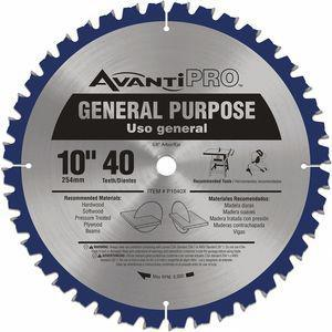 AVANTI P1040X Circular Saw Blade, 10 Inch, Carbide Combination, Number of Teeth 40   CD3VRQ 52XF87