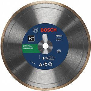 BOSCH DB1043S Diamond Saw Blade, 10 Inch, Wet Continuous Rim Type | CD3RWN 53DM20