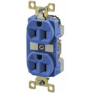 BRYANT BRY5262IGB Industrial/Harsh Environments Isolated Ground Receptacle, 15A, Brown | CD3KHW 52HD10