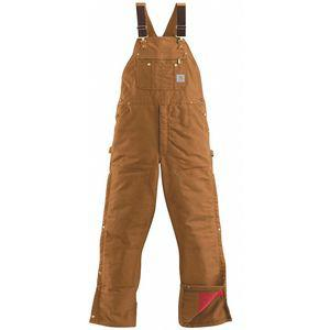 CARHARTT R41-BRN 32 36 Mens Bib Overalls, Inseam 36 Inch, Fits Waist Size 32 Inch, Brown | CD2YXC 53JY45