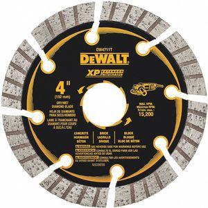 DEWALT DW4711T Diamond Saw Blade, 4 Inch, Wet/Dry, Turbo/Segmented Rim Type | CD3RUU 423K24