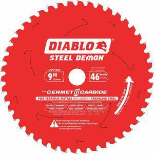 DIABLO D0946CF 9 Inch Cerment SS Cutting Circular Saw Blade, No. of Teeth 46 | CD2LLE 52XF49