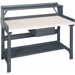 EDSAL 1407L Bolted Workbench, With Riser, 30 Inch Depth, 30-3/4 Inch to 34-3/4 Inch Height   CD3KEN 45GT85