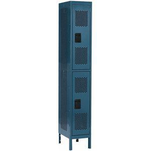 EDSAL CL4591BU Blue Wardrobe Locker, 12 Inch W x 18 Inch D x 78 Inch H | CD3FJK 9KC46