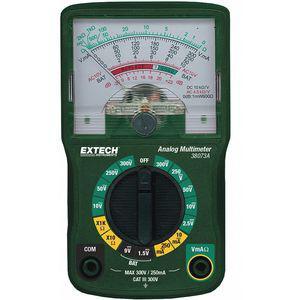 EXTECH 38073A Analog Multimeter, 300 Max. AC Volts | CD2YXM 53XP05