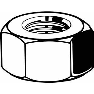 FABORY B04122.087.0001 Hex Nut, 7/8 Inch-9 Thread Size, Grade 8 Steel, Right Hand, 110 Pk | CD3KEF 42HN95