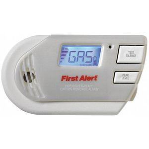 FIRST ALERT GC01CN Carbon Monoxide and Gas Alarm, 85dB At 10 Feet Audible Alert, 120 VAC | CD3XVC 402G02
