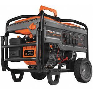 GENERAC 6827 Gasoline Portable Generator, Electric/Recoil, 10, 000 Surge Watts, 120 VAC/240 VAC | CD3XKW 53PD05