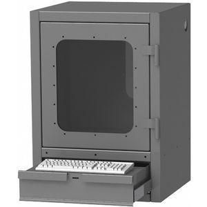 GREENE MANUFACTURING EXC-2637DT Steel Computer Enclosure, Charcoal Gray, 26 x 24 x 37 Inch   CD3FWC 422W79