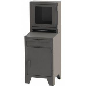 GREENE MANUFACTURING EXC-2666F Mobile Computer Cabinet, Charcoal Gray, 26 x 24 x 72 Inch Size, Steel | CD3LRR 422W85