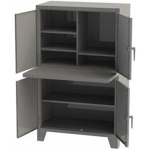 GREENE MANUFACTURING EXC-5478FS Steel Computer Enclosure, Charcoal Gray, 54 x 36 x 78 Inch | CD3LRT 422W98