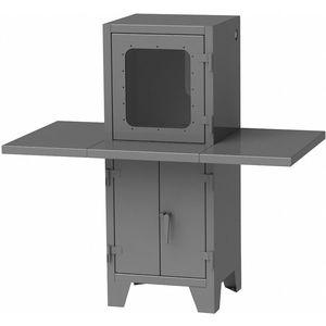 GREENE MANUFACTURING EXC-6772WD Steel Computer Enclosure, Charcoal Gray, 67 x 36 x 72 Inch   CD3LRN 422W80