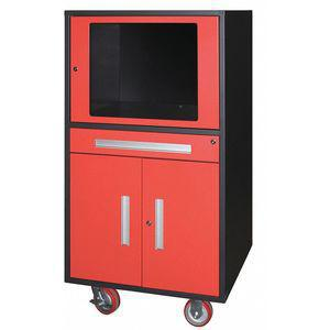 GREENE MANUFACTURING MGDTC-1100-POS-002 Mobile Computer Cabinet, Charcoal Gray, 30 x 29 x 57 Inch Size, Steel | CD3LRQ 422W83