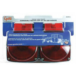 GROTE 65440-5 Submersible Trailer Lighting Kit, Blk/Red | CD2MTQ 419J21