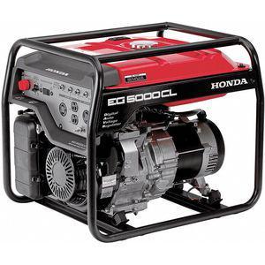 HONDA EG5000CLAT1 Recoil Gasoline Portable Generator, 4500 Rated Watts, 120 VAC/240 VAC | CD3WGC 6NCL4