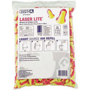 HOWARD LEIGHT LL-LS4-REFILL 32dB Disposable Bullet-Shape Ear Plugs, Uncorded, Magenta, Yellow, Universal | CD2MHU 54FH95