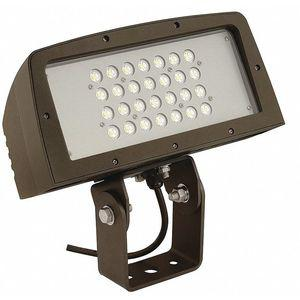 HUBBELL LIGHTING - OUTDOOR FLL-95-Y General Purpose Floodlight, Dark Bronze, 10, 500 Lumens   CD2WUJ 411H26