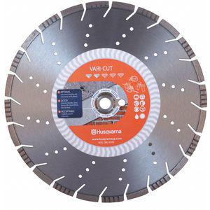 HUSQVARNA Vari-Cut 14 14 Inch Wet/Dry Diamond Saw Blade, Segmented Rim Type, Application Demolition | CD2LQZ 53DT43
