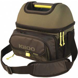 IGLOO 63027 Soft Sided Cooler, Plastic, 2.0 Gallon Capacity, Green | CD3AXM 444A44