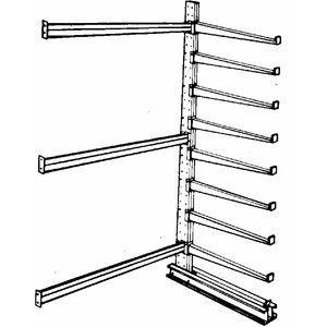JARKE DC-12AJ Add-On Cantilever Rack, Straight, No. of Sides 2, 16 Arms, Arm Length 48 Inch | CD3XDX 3W595