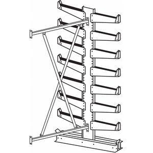 JARKE QT501D36A Add-On Cantilever Rack, Straight, No. of Sides 2, 14 Arms, Arm Length 14 Inch | CD3UWB 4UK87