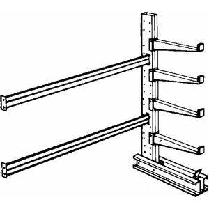 JARKE SC-12AJ Add-On Cantilever Rack, Straight, No. of Sides 1, 8 Arms, Arm Length 48 Inch | CD3VFH 3W593