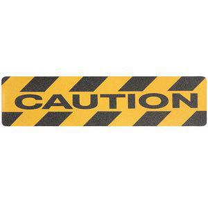 JESSUP MANUFACTURING GRAN12748 Striped Black/Yellow Anti-Slip Tread, 6 x 2.0 ft., Acrylic Adhesive, 10 Pk | CD2NHW 448K62