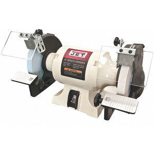 JET 726100 Bench Grinder, 115V, 1/2 HP, 1725 Max. RPM, 5/8 Inch Arbor, 7 Amps | CD3TRE 45PD03