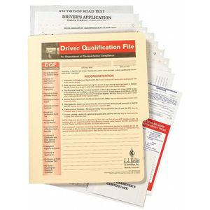 JJ KELLER 3879 Driver Qualification, Paper, 15 Pages, 2 Pk | CD2MTF 411Y96