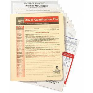 JJ KELLER 9649 Driver Qualification, Paper, 27 Pages, 2 Pk | CD2MTG 411Y97