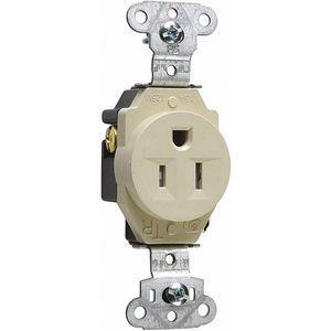 LEGRAND TR5251I Commercial Environments Receptacle, 15A, Ivory, Tamper Resistant | CD3FQG 53CX73