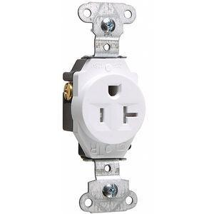LEGRAND TR5251W Commercial Environments Receptacle, 15A, White, Tamper Resistant | CD3FQH 53CX74