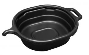 LISLE LS/17972 Oil Drain Pan, 4.5 Gallon, Black, Oval | CD8ELR